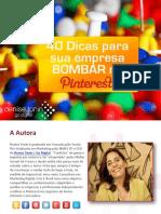 eBook 40 Dicas Para Sua Empresa Bombar No Pinterest by Denise Tonin