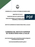 Cuadernillo Informativo Sobre Carreras Tecnicas en Salud 2016-2017