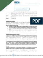 Especificaciones Tecnicas Para El Mejoramiento Del Mercado Desaguadero