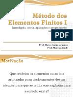 09 - Critério de Convergencia MEF