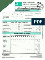 Cuadernillo de Registro Del Examinador
