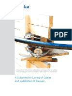Guideline for Laying Cables and Installation of Sleeves