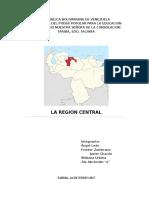 Trabajo Geografia region central venezuela