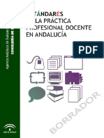 Andalucía Estandares Practica Profesional Docente