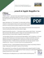 Apple Worker Treatment Case Study