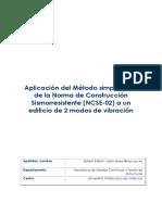 Aplicación Del Método Simplificado de La Norma de Construcción Sismorresistente (NCSE-02...