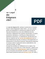 Qué Es La Caja de Edgeworth