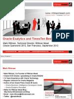 Oracle Exalytics BestPractices