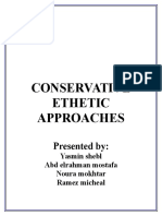 Conservative Ethetic Approaches