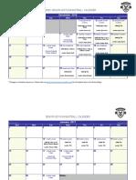 games schedule