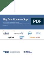 Big Data Comes of Age