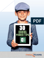 30 Excel Power Tips