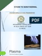 Non Therma Plasma Preservation