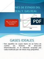 Ecuaciones de Estado Del Gas Ideal y Gas