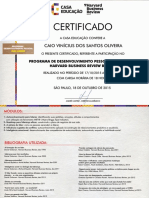 Certificado- Harvard Business