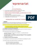 Entreprenariat Cours Prof
