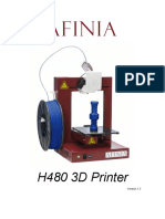 Afinia H480 3D Printer Users Manual