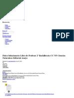 Fisica Solucionario Libro de Profesor 2º Bachillerato CC NN Ciencias Naturaleza Editorial Anaya