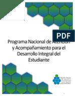 Documento Base del Programa Nacional de Atencion y Acompanamiento para el Desarrollo Integral del Estudiante .pdf