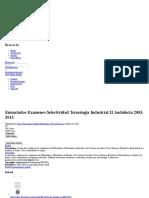 Enunciados Examenes Selectividad Tecnologia Industrial II Andalucia 2003-2013