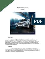 Analiză Print-Ad - Mercedes