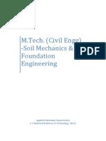 Geotech - MTech syllabus