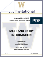 2017 UW Invite Meet Info