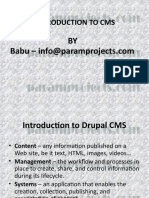 Introduction to Drupal CMS