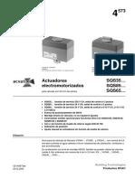 Manual Actuador Siemens SQS 35..85..65