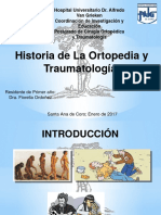 Historia de Traumatología Y Ortopedia