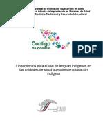 Lineamientos para el uso de la lengua indígena