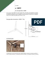 Construir Aerogerador de 100W