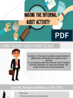 Managing the Internal Audit Activity