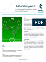 Football Coaching Resource - Functional Practice to Phase of Play - Defending - Back Four Defending as a Unit