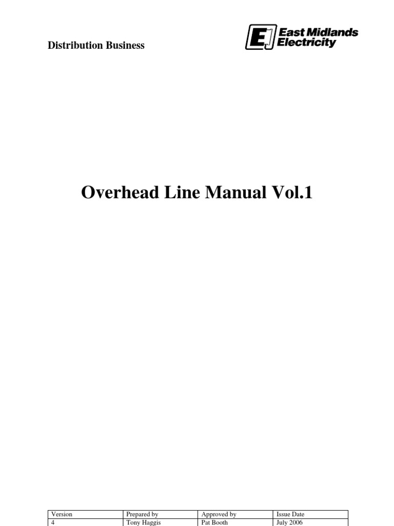 Ohl Manual Vol1 Lv To 33kv Specifications V4 July 2006 Insulator Further Capping Casing And Wiring Also Denso Tape On Fax Cable Electricity Electrical Conductor