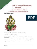 Microsoft Word - Special Mantras for Kamaladharini Puja on Deepa