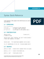 Appendix a Syntax Quick Reference 2017 Essential MATLAB for Engineers and Scientists Sixth Edition