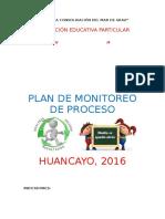 Plan de Monitoreo dePlan de Monitoreo dePlan de Monitoreo dePlan de Monitoreo de Proceso
