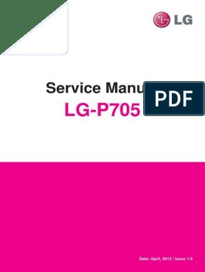 LG-P705 service manual | Wi Fi | Smartphone