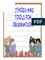 Methods and Tools of Observation