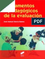 Fundamentos Pedagogicos de La Evaluacion - Jose Manuel Garcia Ramos