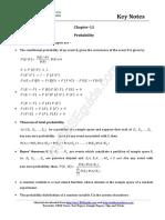 12 Maths Key Notes Ch 13 Probability