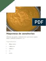 Mayonesa de Zanahorias