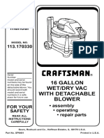 Craftsman 16 Gal Wet Vac - 113.170330