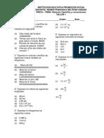 Taller N°1. notación cientifica y conversiones