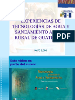 Tecnologías Agua Saneamiento Rural-Guatemala