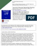 Use of the Montreal Cognitive Assessment in Juicios de Adjudicacion