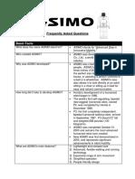 Asimo Technical Faq
