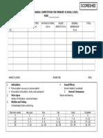 Choral Speaking Scoresheet