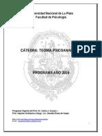 Programa Teoria Psicoanalitica